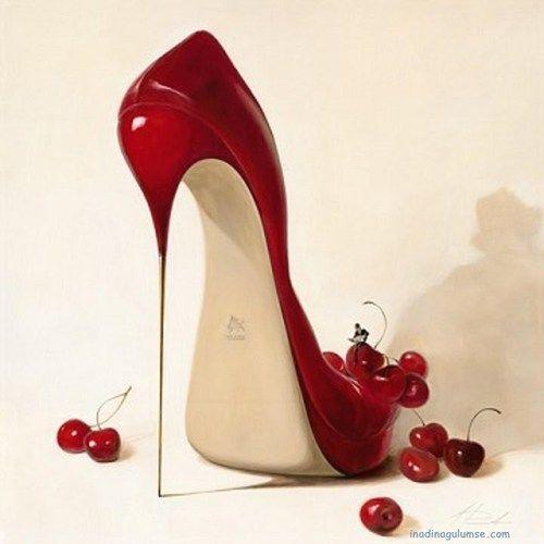 Heel Art Cherry Red