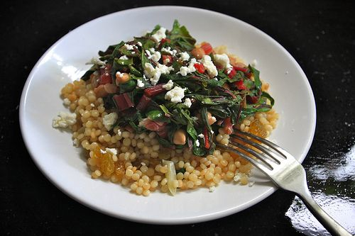 cous cous with swiss chard | eat, drink, & be merry | Pinterest