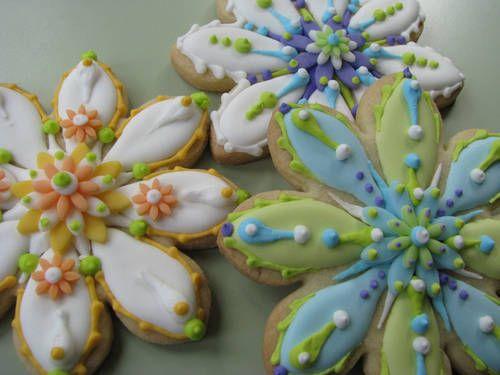 Beautiful Spring Flower Cookies