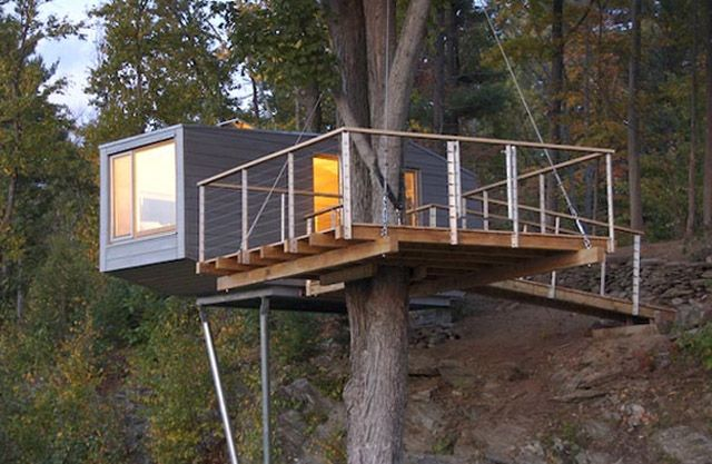 shipping container tree house | Shipping Container Living | Pinterest