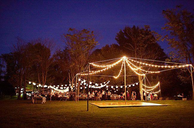 pole canopy of lights wedding lights and decor pinterest. Black Bedroom Furniture Sets. Home Design Ideas