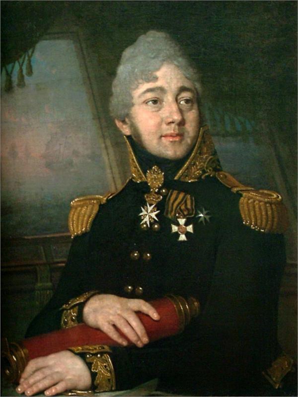 Portrait of the russian poet evgeny boratynsky 1820 vladimir