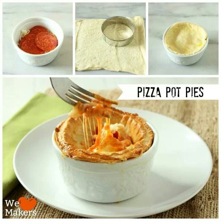 Pizza Pot Pies, recipe at Pillsbury.com | Delicious Recipes, Meals an ...