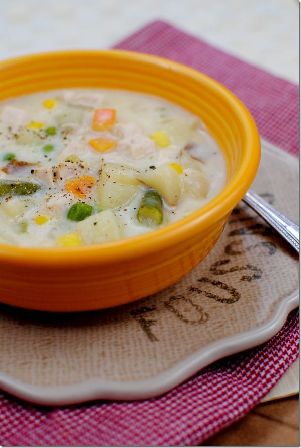 Skinny Chicken Pot Pie Soup | Soups | Pinterest