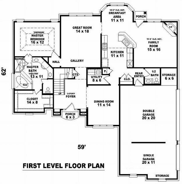 Floor Plan Hillside House Plans Pinterest