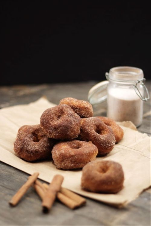 Baked pumpkin autumn maple doughnuts | none | Pinterest