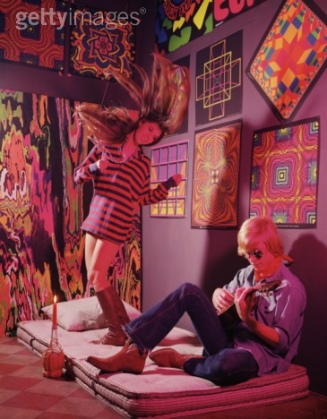 gallery for psychedelic bedroom