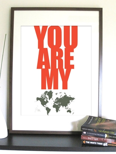 You are my world print lenziw