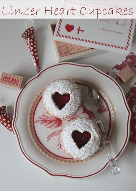 linzer-cupcakes | Cake - Cup Cake | Pinterest