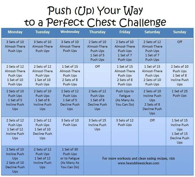 Push up calendar | Booty Camp | Pinterest