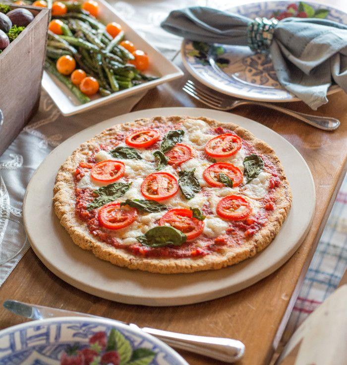 Pizza Margherita. Not keen on an almond flour crust but the sauce ...