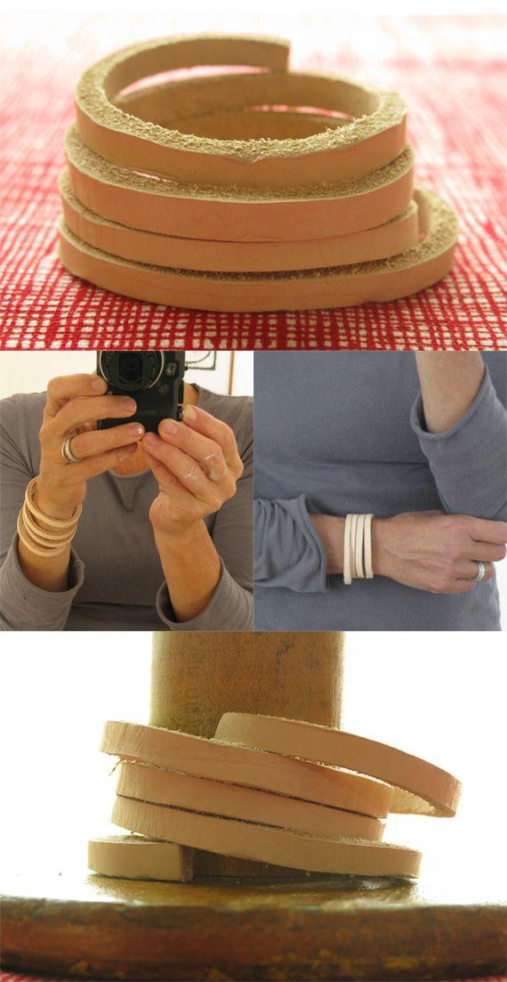DIY: leather bracelets