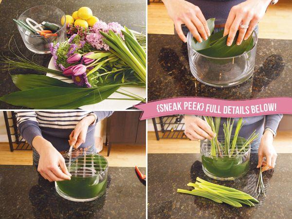 Floral easter centerpiece diy tutorial