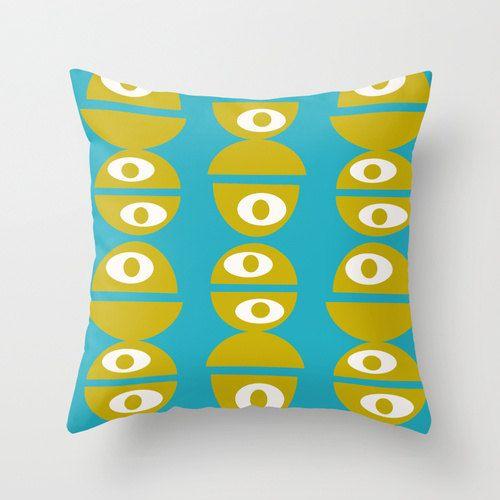 Mod Throw Pillow Mid Century Modern PillowCool by crashpaddesigns, $48.00