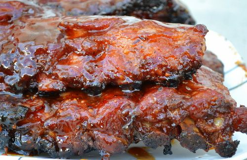 Baby back ribs with maple bourbon glaze | Smoker | Pinterest