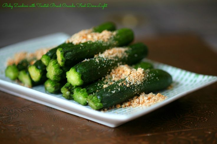 Sauteed Baby Zucchini with Toasted Bread Crumbs Food Done Light # ...