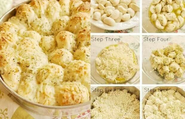 Garlic cheese monkey bread | food and drink | Pinterest