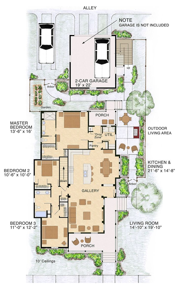 Bungalow Cottage Craftsman Traditional House Plan 30508