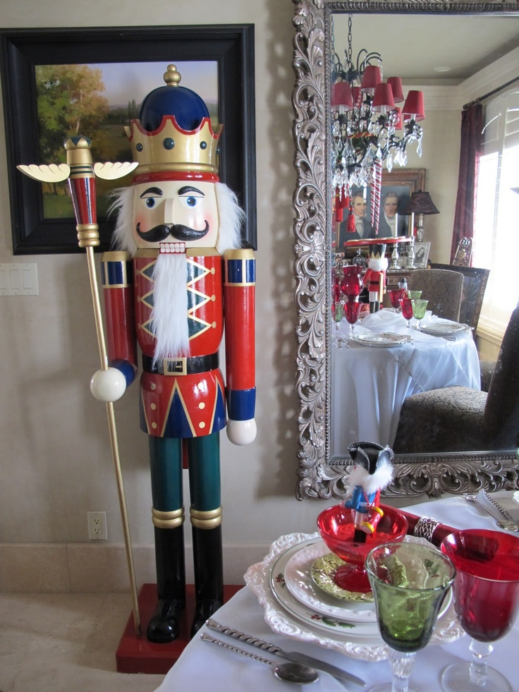 6 ft nutcracker nutcrackers pinterest for Well dressed home christmas decorations