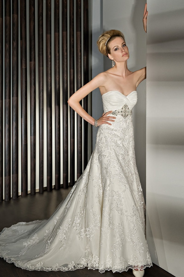 Demetrios Wedding Dresses : Demetrios sheath wedding dress bridal gown love