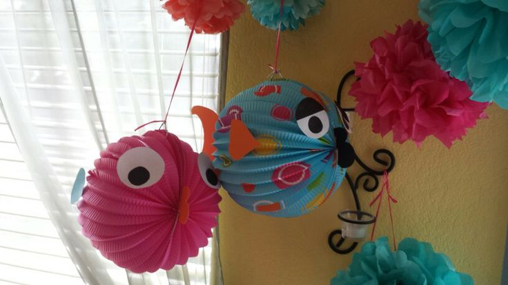 Paper lantern fish under the sea birthday party pinterest for Fish paper lanterns