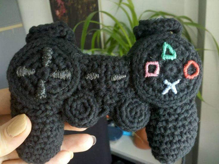 Xbox Crochet Pattern : PlayStation controller crocheted baby rattle Crochet ...