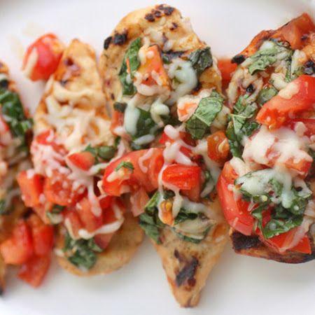 Grilled Bruschetta Chicken | A skinnier me | Pinterest