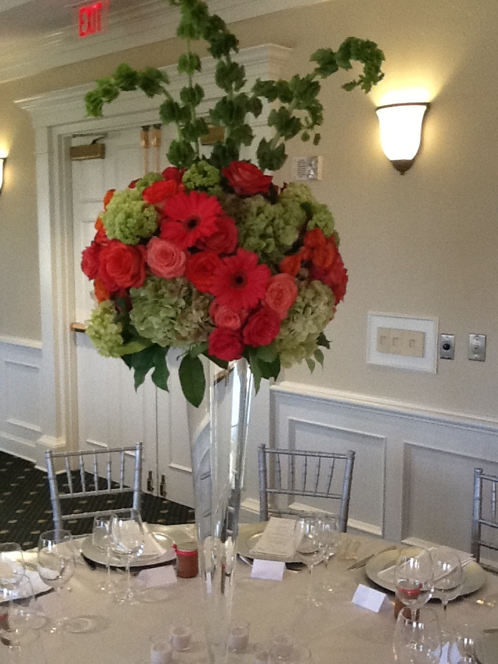Tall vases- Centerpieces  Wedding  Pinterest