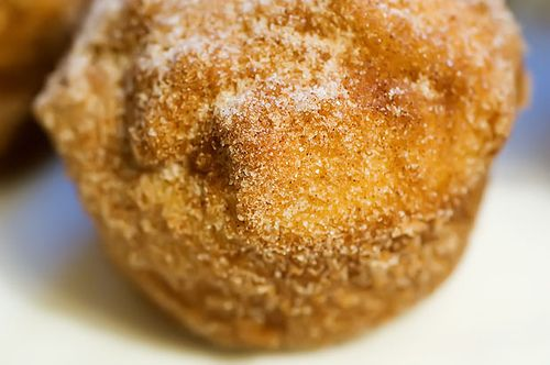 French breakfast puffs....AKA light and fluffy cinnamon muffins dunked ...