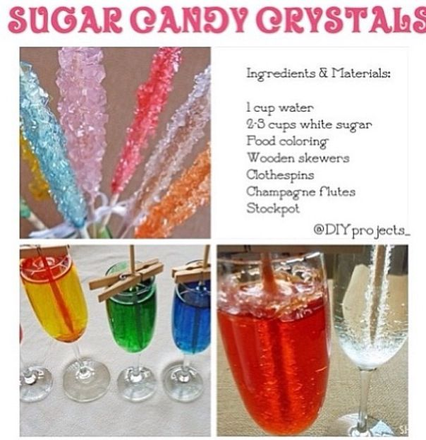 How to make sugar candy crystals | Cooking | Pinterest