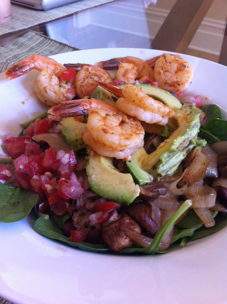 shrimp fajita salad - yum! | Recipes | Pinterest