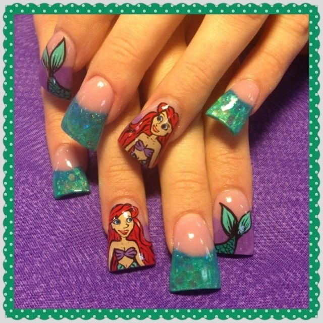 Little Mermaid Nail Designs : The little mermaid nail art gallery check it out elaina pinter