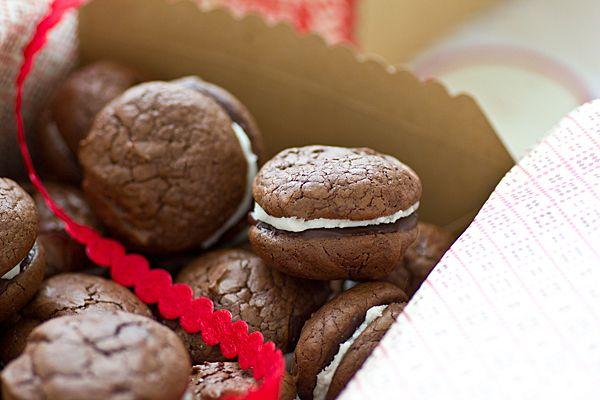 Grasshopper brownie cookies | @Oh My Veggies