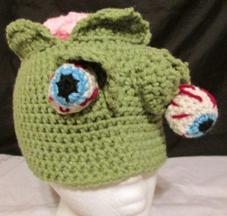 Crochet Zombie Hat