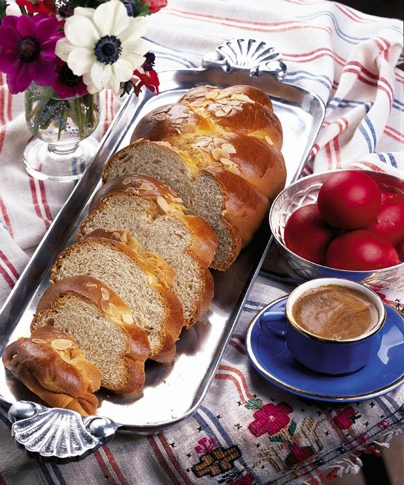 Greek Easter Tsoureki bread- from Smyrna (Smyrneiko)