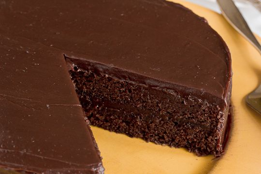 Southern-style Chocolate Cake with Chocolate Ganache Frosting | Recipe