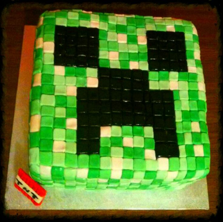 Minecraft Creeper Cake Auto Design Tech
