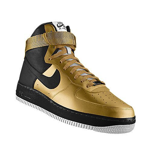 Nikeid gold and black air force 1 kicks pinterest