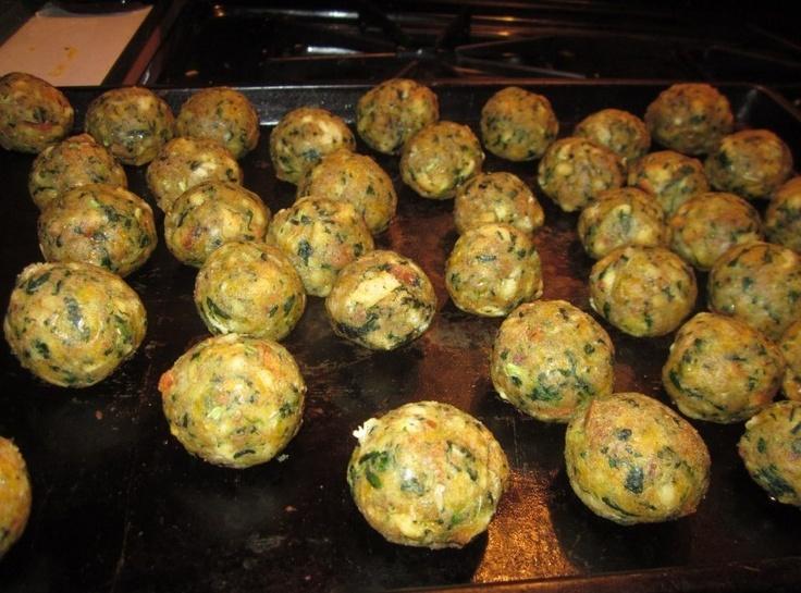 Spinach Balls | Finger Foods | Pinterest