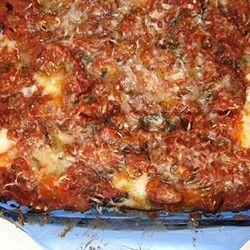Lasagna this looks like my Mom's Lasagna!