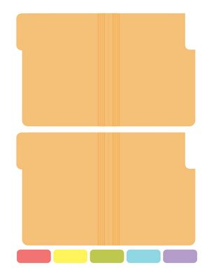 little file folders printable use to separate scrapbook sketches