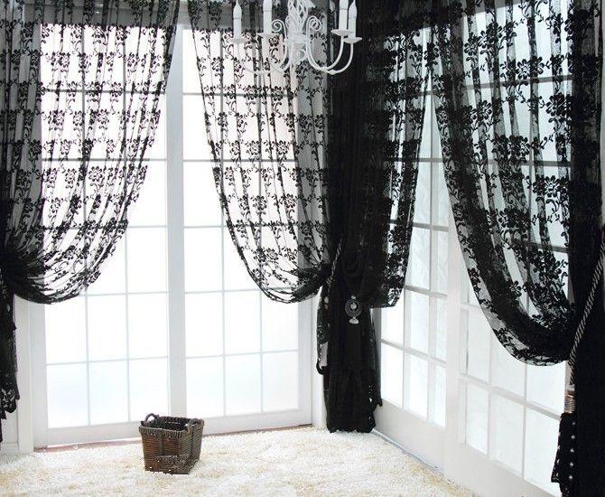 Similiar Black Lace Curtains And Valances Keywords