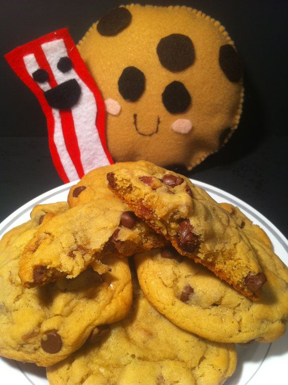 Maple Bacon Chocolate Chip Cookies- one dozen, fresh baked and delici ...