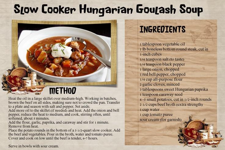 Hungarian Goulash Soup | Soups | Pinterest