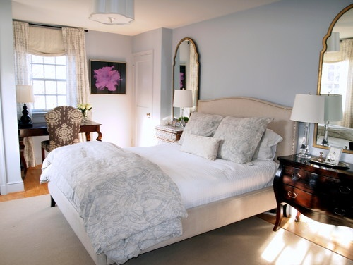 traditional bedroom  like the colors