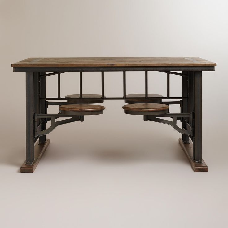 Galvin cafeteria table world market sharp eye home for Breakfast table with stools