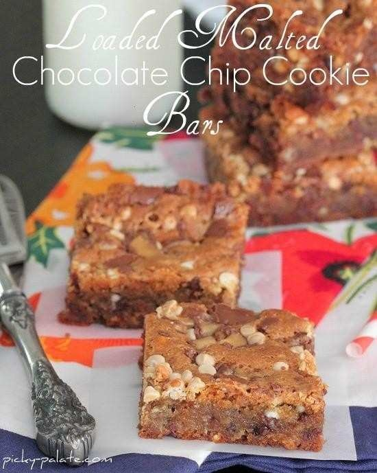 LOADED MALTED CHOCOLATE CHIP COOKIE BARS...WOW!!