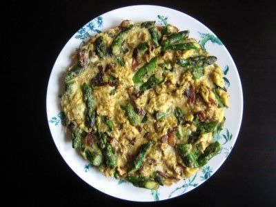 Asparagus, Bacon & Scallion Frittata | Egg Dishes | Pinterest