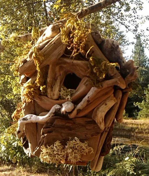 Birdhouse,Rustic,Outdoor,Yard,Garden Decor,Hand Made,Driftwood Art ...