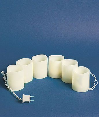 Electric Candle String Lights : Pillar Candle Light String House Pinterest